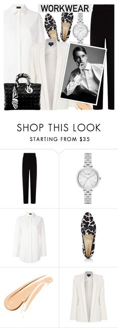 """""""Monochrome - Work wear"""" by cly88 ❤ liked on Polyvore featuring Balenciaga, Kate Spade, Joseph, Sarah Flint, Armani Jeans and Christian Dior"""