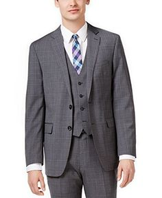 For a put together look that speaks volumes about your impeccable style, opt for this modern fit plaid vested suit from Calvin Klein. Modern fit: cut with a narrower point to point shoulder measurement; higher armholes and trimmer through the chest and waist; slim trousers with a tapered leg...  More details at https://jackets-lovers.bestselleroutlets.com/mens-jackets-coats/suits-sport-coats/suits/product-review-for-calvin-klein-extreme-slim-fit-grey-plaid-100-wool-new-mens