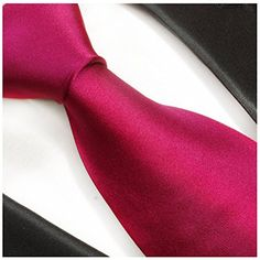 Solid Hot Pink Silk Necktie Set by Paul Malone  http://www.yourneckties.com/solid-hot-pink-silk-necktie-set-by-paul-malone/
