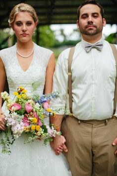vintage inspired bride and groom attire #vintage #brideandgroom #weddingchicks http://www.weddingchicks.com/2014/01/30/time-travel-wedding/