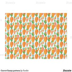Carrot funny pattern tablecloth