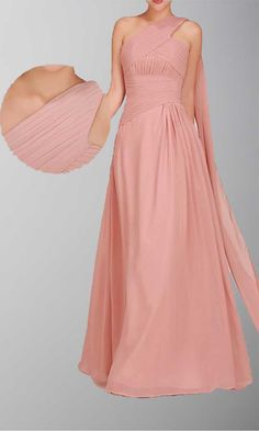 Grecian Single Shoulder Long Wedding Guest Dress KSP022