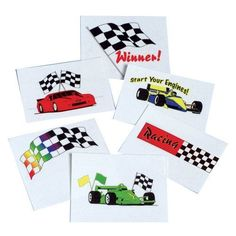 US Toy Company 303 Racing Tattoos, 144-Pack by US Toy Company. $14.40. Washes off with soap and water.. Temporary.. 1-1/2 Square.. Tattoo designs include stock car, Indy car and checkered winner flags.. Compliant with FDA tests and regulations.. Get ready for race day with these racing tattoos. Tattoos are fun for party favor bags. 144 Tattoos per unit. Stock up on all the sports themed items you need for parties, sporting events, clubs and more. We have a wide se...