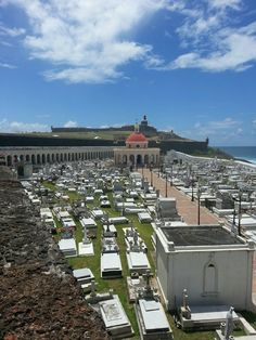 Burial grounds outside of the city walls in Puerto Rico