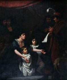 Lady Elizabeth Woodville Pleading for Her Children before Edward IV (detail)  John Opie (1761–1807)