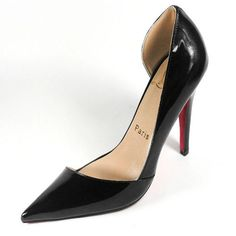 2406fcdaf69 Christian Louboutin Pigalle Red Patent Leather Cut-out Curve Pointed Toe  Pump. Happy liu · high heel shoes