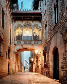 A charming medieval Gothic Quarter filled with hip bars and street-food vendors. Romanesque Architecture, Architecture Details, Interior Architecture, Ancient Architecture, Gothic Quarter Barcelona, Cute Animal Drawings Kawaii, Medieval Gothic, Aesthetic Pictures, Beautiful Places