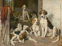 Hunting Dog Painting