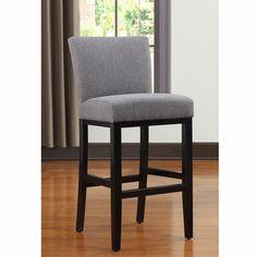 149 for 1 portfolio orion charcoal gray linen upholstered 30inch bar stool
