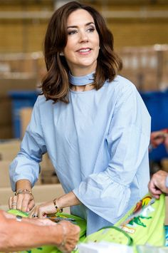 On May 23, 2017, Crown Princess Mary of Denmark attended Lego backpack charity event in Billund town, held by cooperation of Lego Group and Mary Foundation, and helped prepare backpacks. The annual charity event sends necessary materials in backpacks to people living at crisis centres and shelters.
