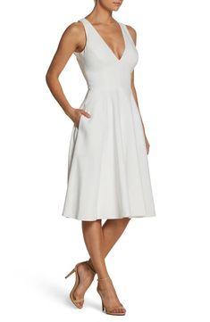 f3feead1532 Dress the Population Catalina Tea Length Fit   Flare Dress