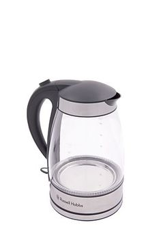 """This glass cordless kettle with blue LED lighting ring is a modern take on a jug kettle<div class=""""pdpDescContent""""><ul><li> 1.7 liter capacity</li><li> Rapid boil 3kW concealed spiral element </li><li> 360 degree rotating base, ideal for both right or left handed use with textured handle for easy grip</li><li> Removable washable filter</li><li> Easy open push button lid</li><li> 3000 watts</li></ul></div><div class=""""pdpDescContent""""></div>"""