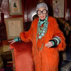 """Park Avenue's bird of paradise Iris Apfel landed in London this week for the U.K. premiere of the documentary """"Iris."""" 