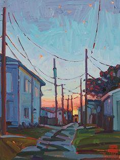 City Sunrise-Rene' Wiley-16x12x1 by René Wiley Gallery Oil ~  x