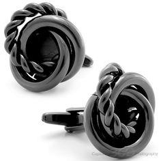 Black Swirl Cufflinks | Fine Men's Jewelry | #fashion #jewelry #cufflinks