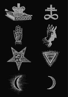 Alchemy symbols of satan.