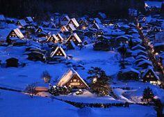 白川郷ライトアップ #Shirakawago #illuminated Gifu