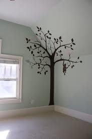 slanted walls...this is just like our baby room that I want to put a tree on...same color and everything.