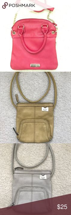 Purses 👛 One Steve Madden gently used red over the shoulder bag.   One white gently used tangelo over the shoulder purse.   One yellow gently used tangelo over the shoulder purse. Steve Madden Bags Crossbody Bags