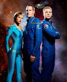 T'Pol, Archer, and Trip
