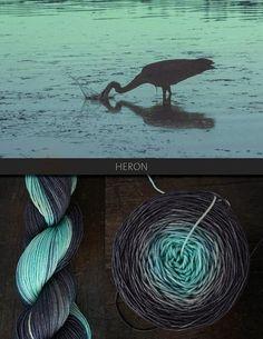 Heron by Blue Brick yarn, my new obsession