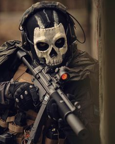 """""""I am the punishment of God.If you had not committed great sins, God would not have sent a punishment like me upon you. Military Guns, Military Art, Call Of Duty Warfare, Gas Mask Art, Best Gaming Wallpapers, Military Special Forces, Genghis Khan, Go Game, Cool Guns"""