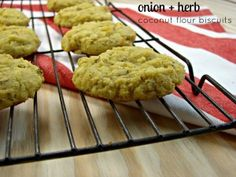 Onion Herb Coconut Flour Biscuits