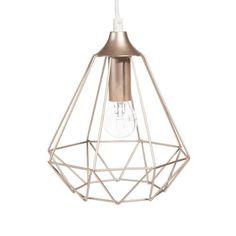 Marx - Hängeleuchte mit Lampenschirm aus Metalldraht H 22 cm