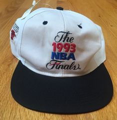 86b9c43fe67be4 Vintage The 1993 NBA Finals Deadstock NEW NWT SnapBack Hat Cap Chicago Bulls