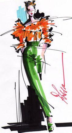Very quick fashion sketch. Illustration Mode, Fashion Illustration Sketches, Fashion Sketches, Dress Sketches, Fashion Design Illustrations, Fashion Design Portfolio, Fashion Design Drawings, Drawing Fashion, Fashion Sketchbook
