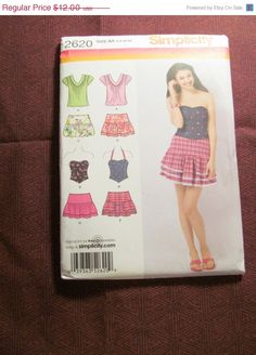 SALE Uncut Simplicity Sewing Pattern 2620 3/49/10 by EarthToMarrs, $8.40