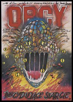 Ridley Scott's Alien (1979) film poster from Poland.