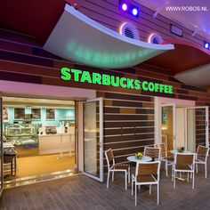Project Harmony of the Seas, Starbucks by Robos Contract Furniture #cruise #cruisefurniture #starbucks #harmonyoftheseas #roboscontractfurniture