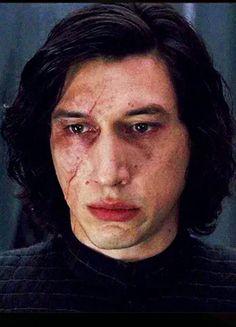 Ben Solo staring at Rey.