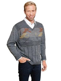 Пуловер, 626560, серый мелированный