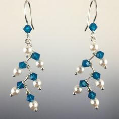 Swarovski Crystal & Sterling Silver Berry Branch Earrings