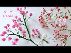 【お花紙】ピンクのカスミソウ / 【Tissue paper】Pink Baby's breath Crepe Paper Flowers Tutorial, Paper Flowers Craft, Origami Flowers, Felt Flowers, Flower Crafts, Diy Flowers, Fabric Flowers, Paper Crafts, Babys Breath Flowers