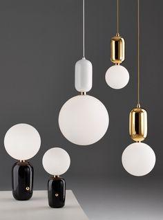 Parachilna Aballs Lamps by Jaime Hayon - Design, Desk lamps, Lighting, Misc… Interior Lighting, Home Lighting, Modern Lighting, Lighting Design, Pendant Lamp, Pendant Lighting, Jamie Hayon, Luminaria Diy, Light Design
