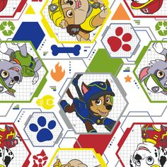 New Arrival Paw Patrol Cotton Fabric, BTY. by JinsQualityFabric on Etsy
