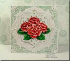 Used DCWV Fresh Floral Stack. Details: http://www.mypapercrafting.com/2013/06/roses-n-dies-card.html