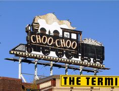 The Famouse Choo Choo sign! & The Terminal is a great place to get into a bit of history. Located a few steps away from the Choo Choo, the Terminal is a brew house with good food and a good selection of house beers.