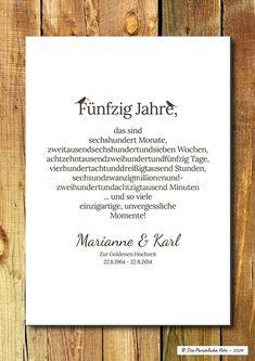Druck/Print: Geschenk zur Gold- und Silberhochzeit von Die Persönliche Note auf DaWanda.com