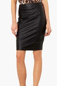 Sexy Leather Pencil Skirt | Keaton Row