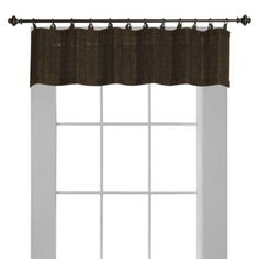 Versailles Bamboo Ring Top Window Valance (Expresso) - Target - maybe we could find some peace symbols to sew on to this.