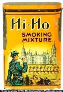 Scarce, early, tin litho vertical tobacco pocket tin for Wasserman Co.'s Hi-Ho brand. Sold at: Wm Morford Antiques Looking to Buy or Sell?