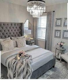 ¿Es gris un buen color para pintar un dormitorio? Bedroom ¿Es gris un buen color para pintar un dormitorio? French Master Bedroom, Master Bedroom Design, Bedroom Designs, Master Suite, Master Bedroom Chandelier, Simple Bedroom Design, Rustic Bedroom Design, Luxury Bedroom Design, Grey Interior Design