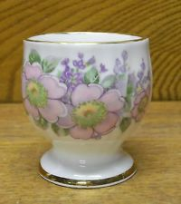 Porcelain Egg Cup - Floral - Royal Tara Irish Fine Bone China - Galway Ireland