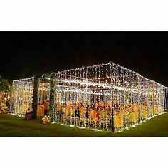 Twinkle light walls under an open sky.   from the Bali Bride.  Follow me on Instagram @the.party.guru