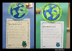 'Dear Mother Earth'..... letters in elementary school