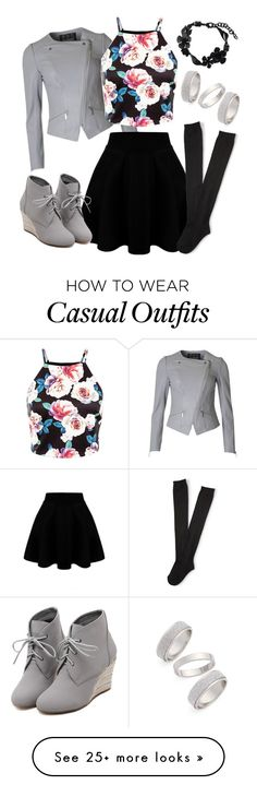 """Kaela's Casual Floral Outfit"" by rileyadewitt on Polyvore featuring Barbour, Aéropostale, WithChic, Valentino, Topshop, women's clothing, women, female, woman and misses"